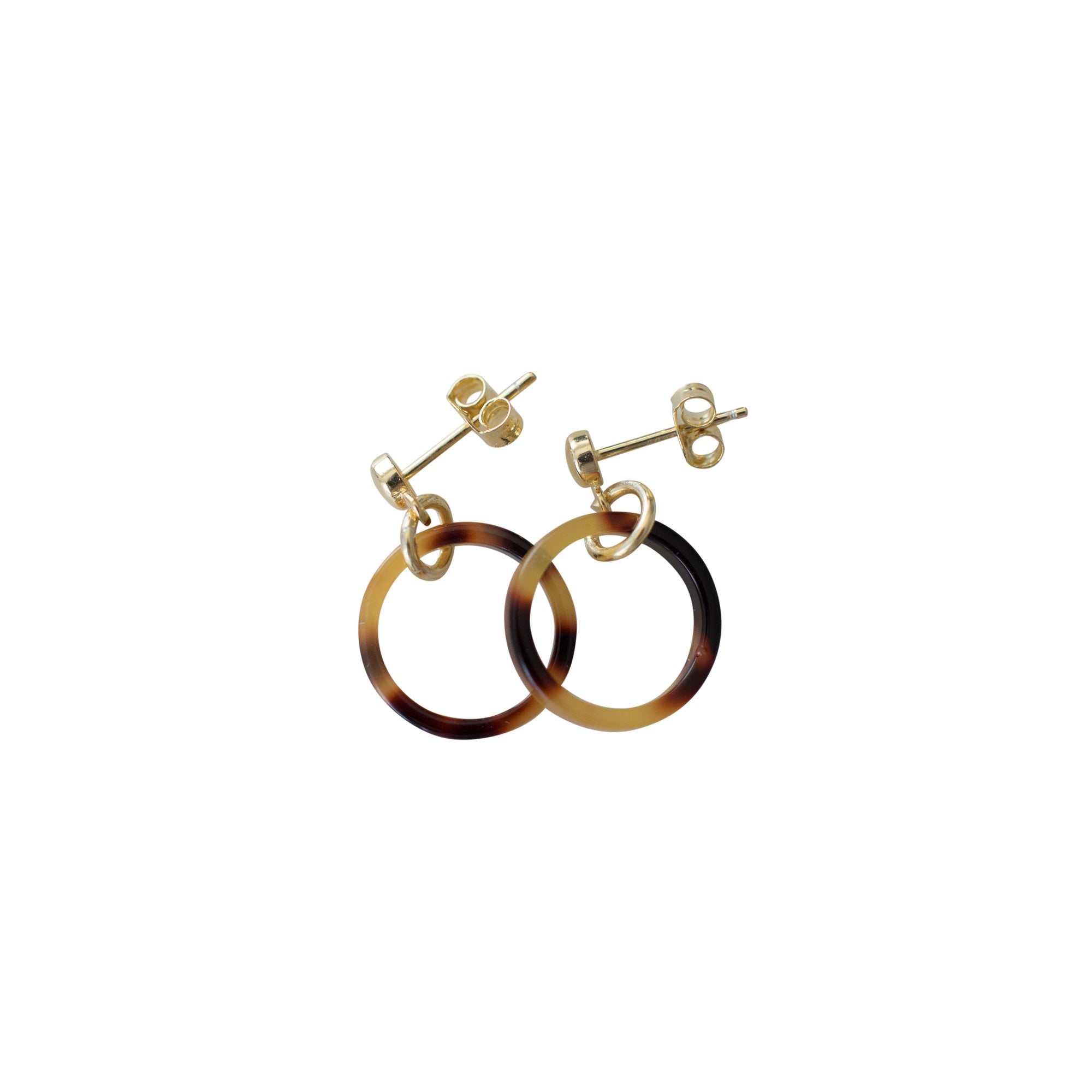 Sophie -  Little Tort Hoops - Dark / Gold - Paper Plane - SOPHIE Store - NZ Stockist - Jewellery