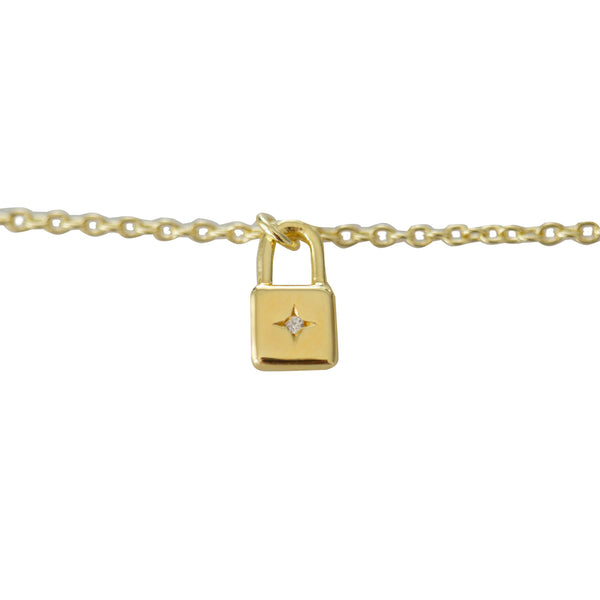 Sophie - Little Lock Necklace - Gold
