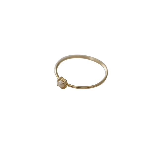 Sophie - Mini Pearl Ring - Gold