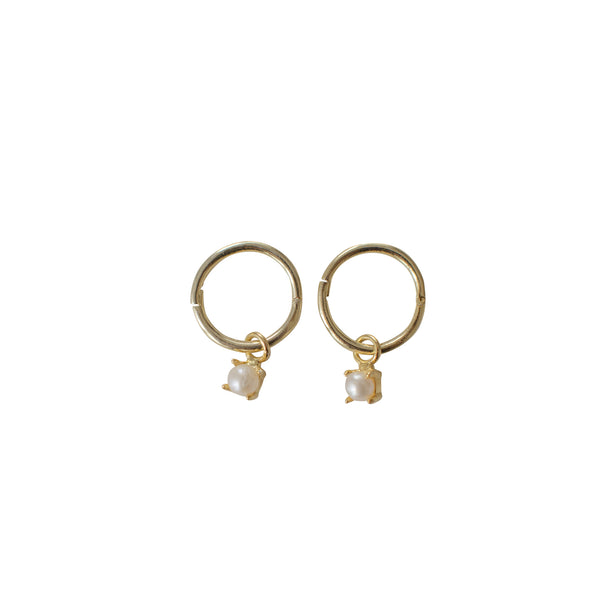 Sophie - Mini Pearl Sleeper Earrings