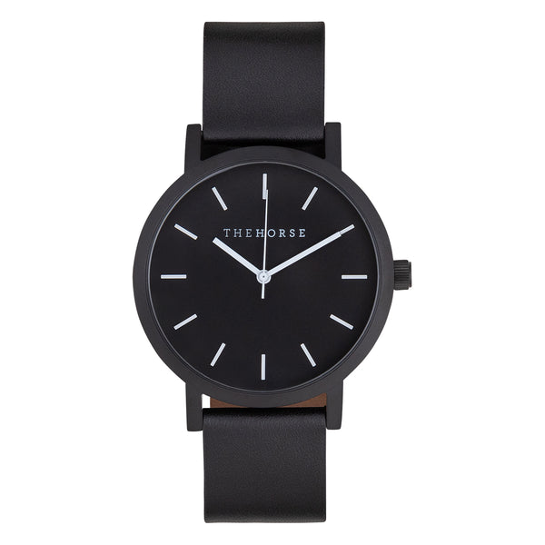 the horse watch nz all black matte