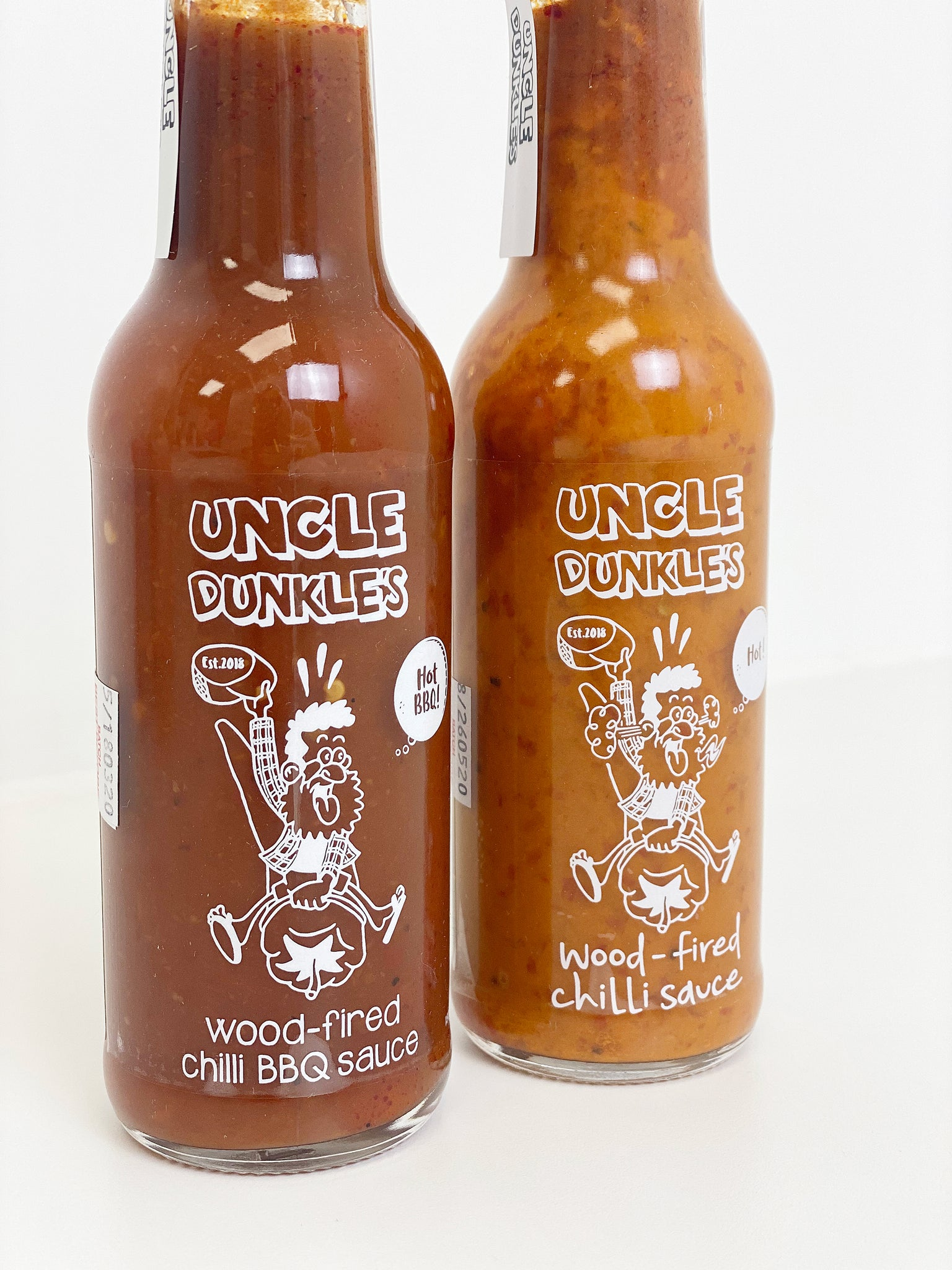 Uncle Dunkle's Hot Wood-Fired Chilli Sauce - Paper Plane