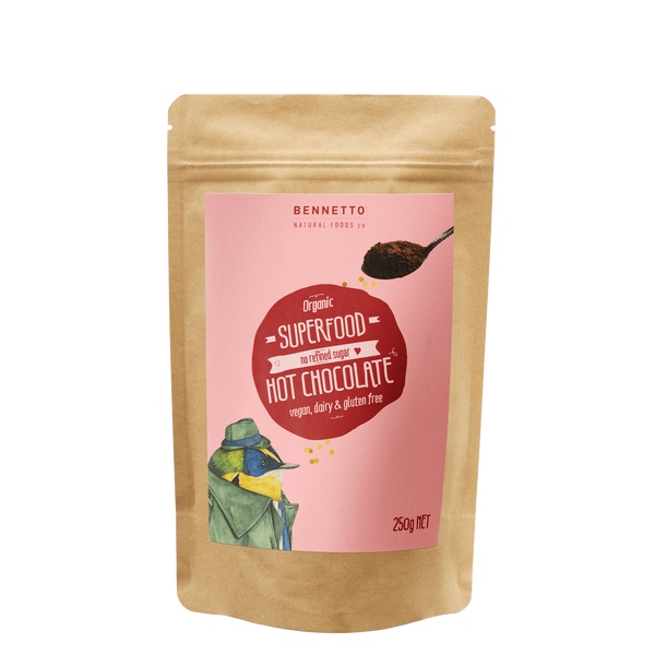 Bennetto - Superfood Hot Chocolate Powder - Mt Maunganui Stockist - Paper Plane - Food - Gifts