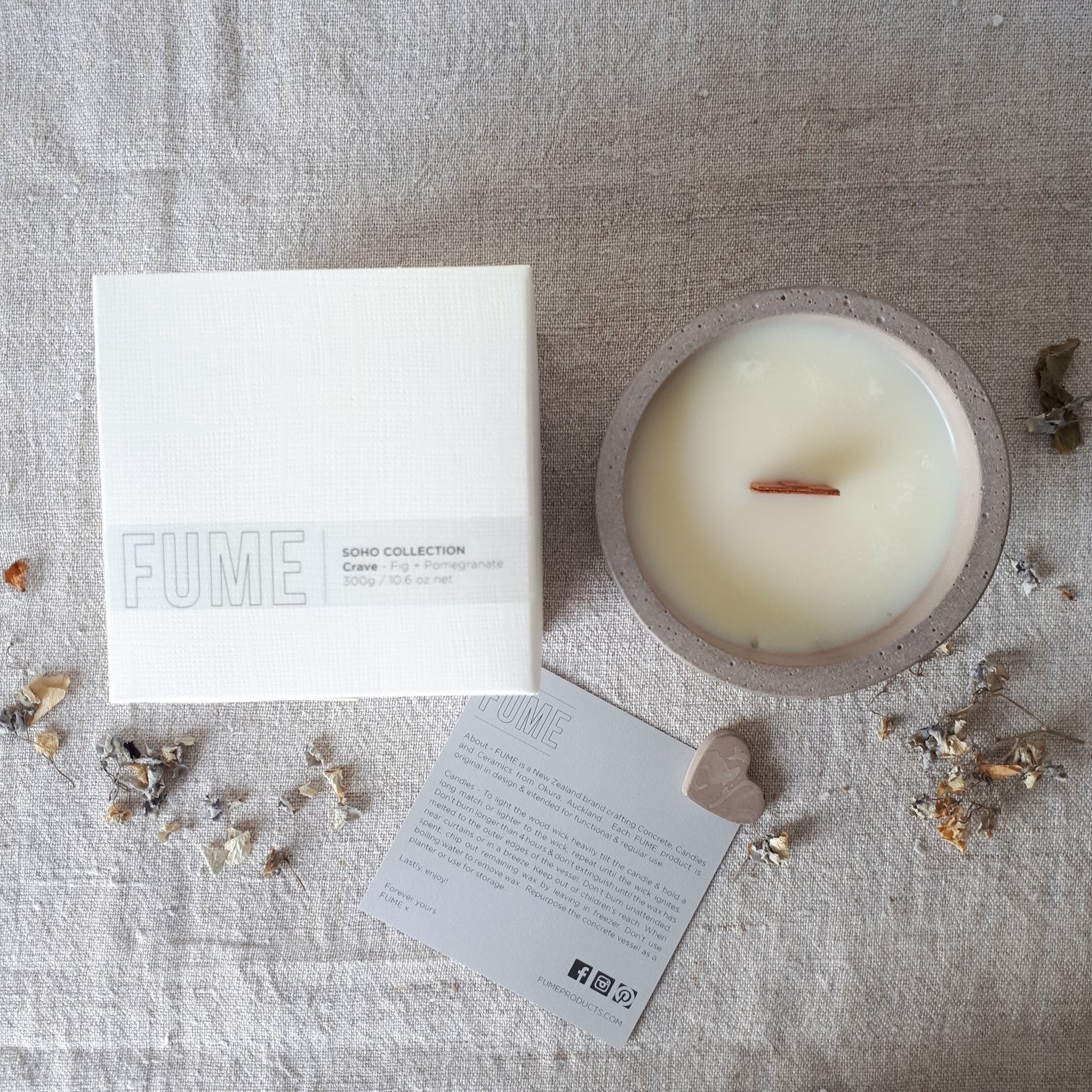 Soho Candles - Biscuit - Fume - Paper Plane - Mt Maunganui  Stockist
