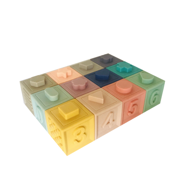 Colourful Building Blocks - Petite Eats - Baby Toys - Paper Plane - Tauranga Stockist