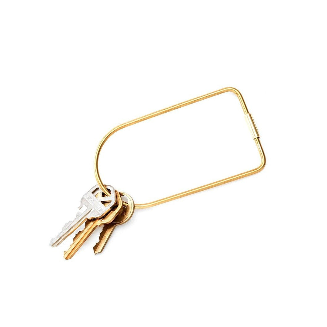 Brass Contour Keyring - Bend - Areaware - NZ Stockist - Paper Plane