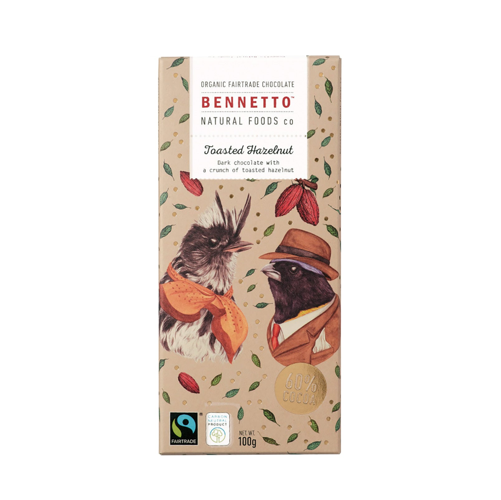 Bennetto - Toasted Hazelnut Chocolate Bar