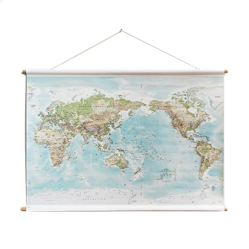 Hanging Canvas World Maps – PAPER PLANE on