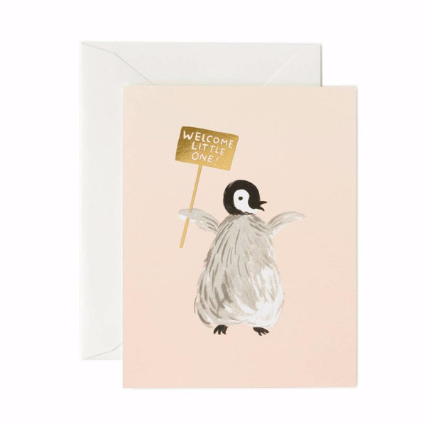 Card - Welcome Penguin  - Greeting Card - Rifle Paper Co. -  NZ Stockist - Paper Plane