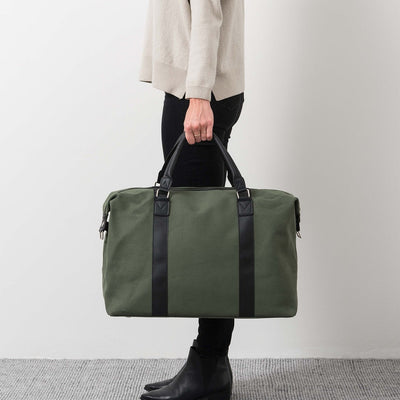 Canvas Weekender Bag - Olive - Citta Design - Paper Plane - Tauranga Stockist - Travel Bags