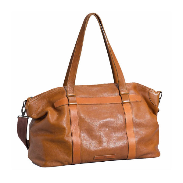 Mand Leather Overnight Bag - Tan - Elk - Paper Plane - NZ Stockist
