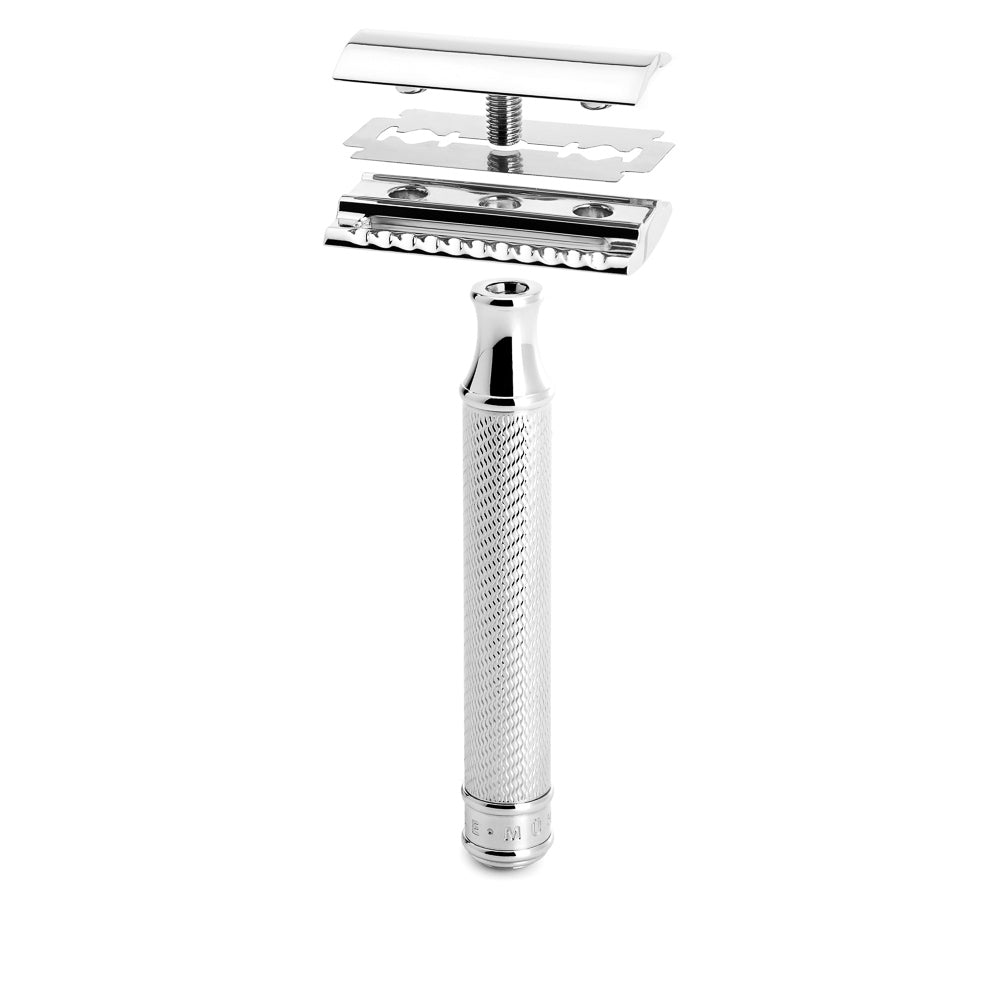 Muhle Safety Razor - Chrome - Paper Plane - Men's Shaving Accessory - NZ Stockist