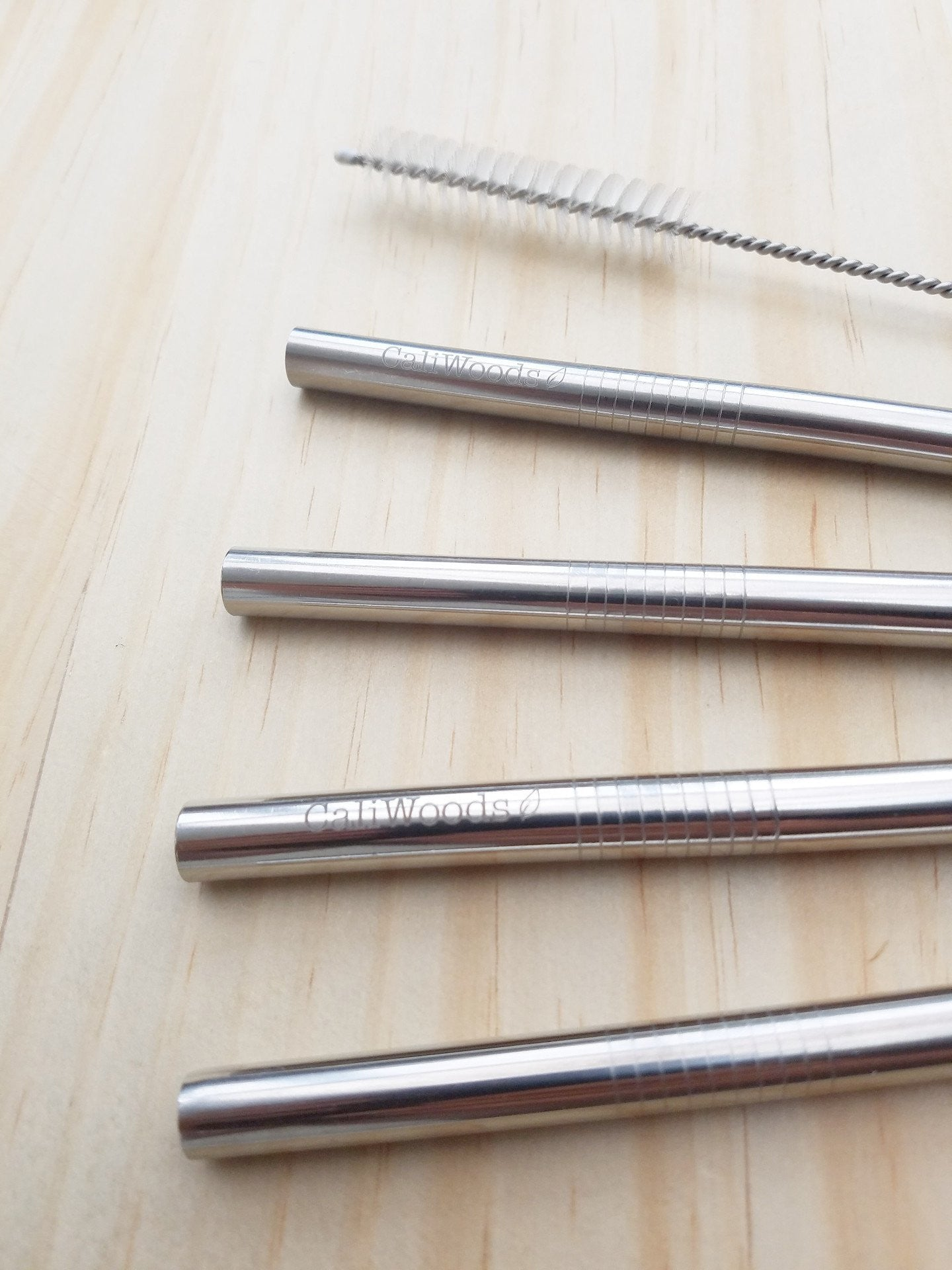 Stainless Steel Drinking Straw - Smoothie Straw - Caliwoods - Reusable Straws - NZ - Mt Maunganui Stockist