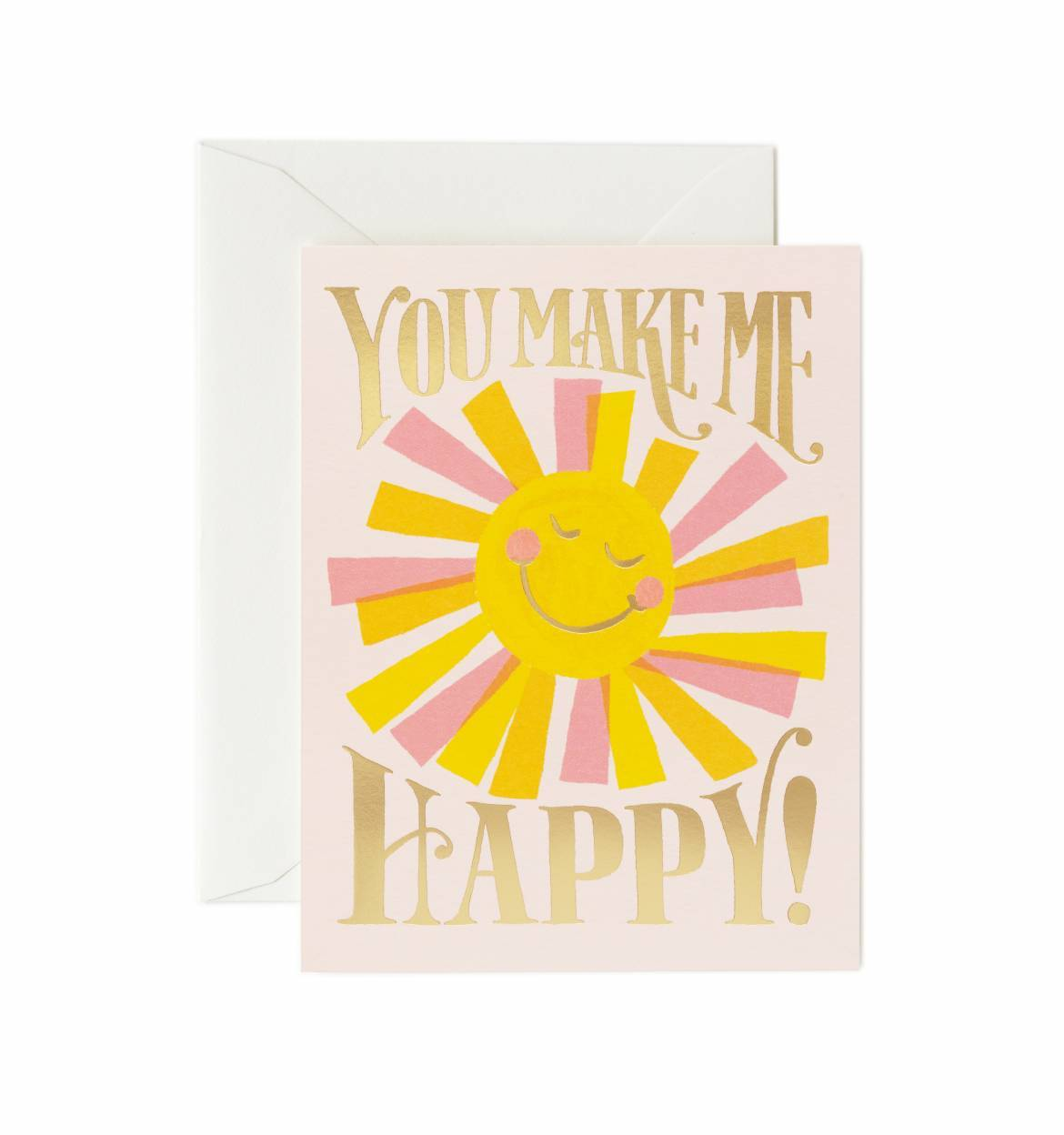 Card - You Make Me Happy - Rifle Paper Co. - Paper Plane - Stationery - NZ Stockist - Greeting Cards