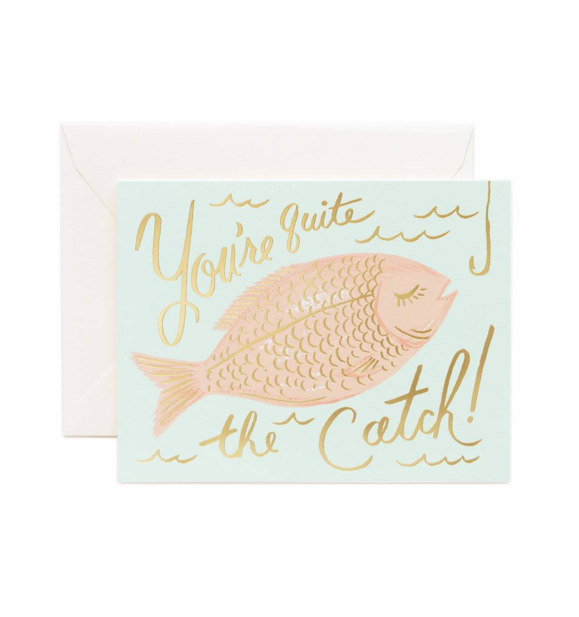 Card - You're A Catch - Rifle Paper Co. - Paper Plane - Stationery - NZ Stockist - Greeting Cards