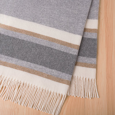 Lambswool Throw - Ohope - Paper Plane