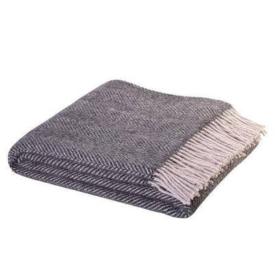 Wool Throw - Lerwick Charcoal