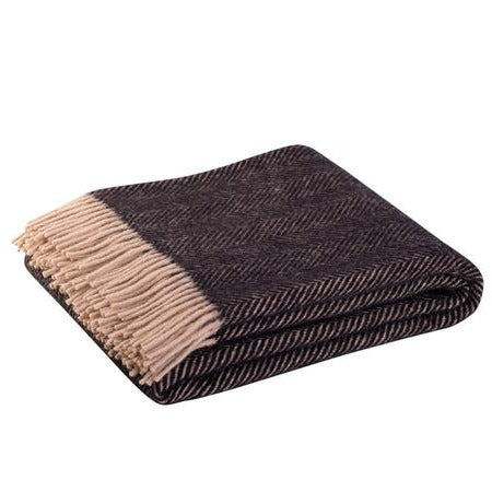 Paper Plane - Wool Throw - Lerwick Vintage Espresso