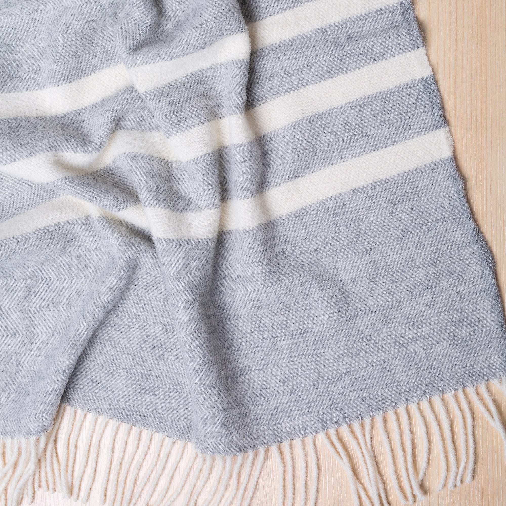 Paper Plane - NZ Lambswool Throw - Raglan Fog