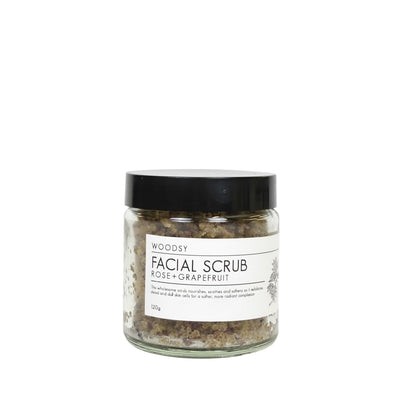 Facial Scrub - Rose & Grapefruit - Woodsy Botanics - NZ
