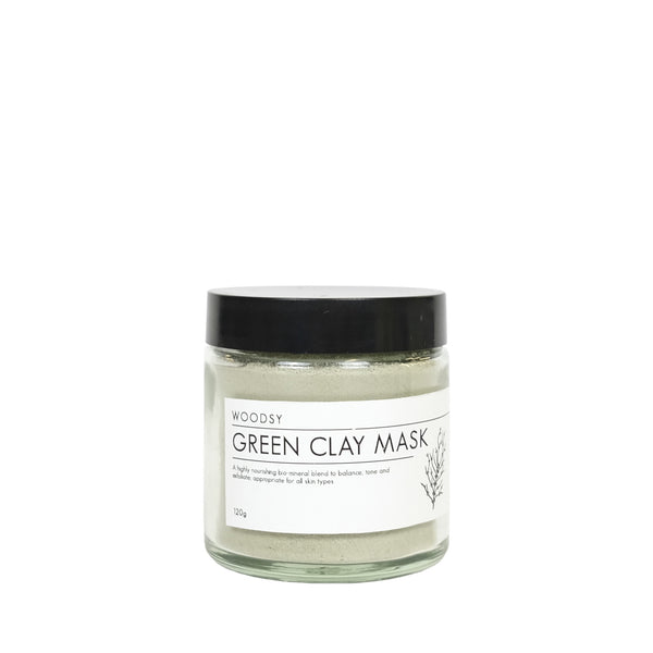 Green Clay Facial Mask - Woodsy Botanics - NZ