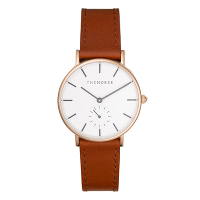 The Horse - Classic - Rose Gold / Walnut Leather