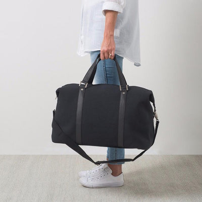 Canvas Weekender Bag - Black