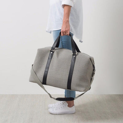 cacf74c10a8b Canvas Weekender Bag - Light Grey