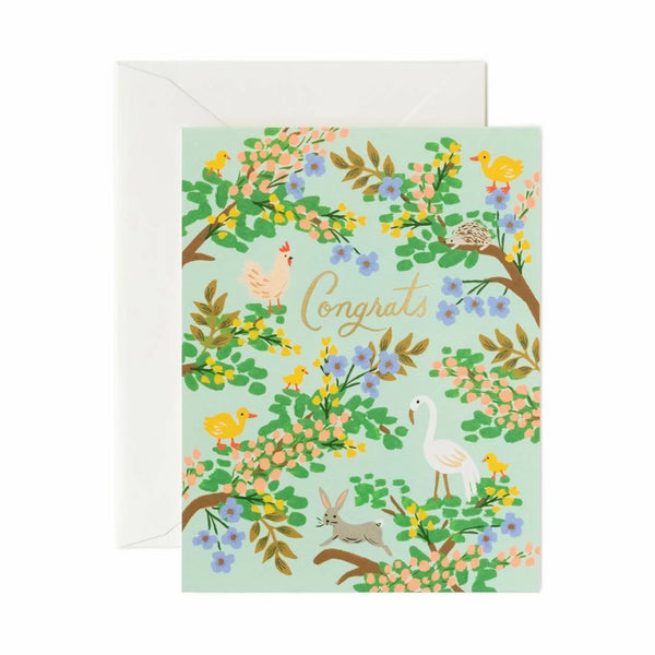 Card - Congrats Forest - Rifle Paper Co - NZ Stockist - Paper Plane