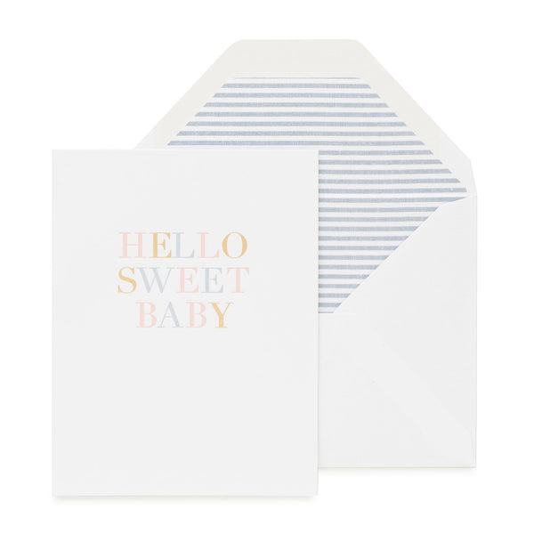 Greeting Card - Hello Sweet Baby - Sugar Paper - NZ Stockist