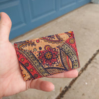 Paisley Front Pocket ID Wallet