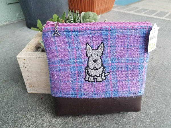Harris Tweed and Embroidered Dog
