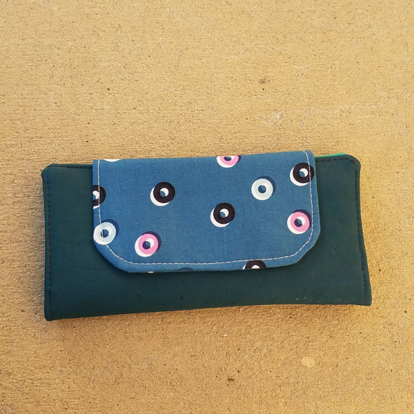 Cork Slimline Wallet::Dots