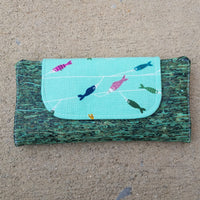 Cork Slimline Wallet:: Japanese Fish