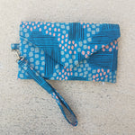 Envelope Clutch in Blue Abstract