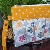 Ruffled Wristlet - Colorful Flowers