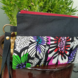 Ruffled Wristlet - Bright Flowers