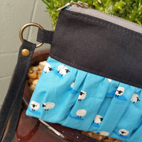 Ruffled Wristlet - Sheep