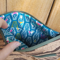 Cork & Teal Abstract Fabric Crossbody