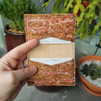 RED FENNEL Cork  Biz Card Wallet