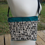 Black Dashes, small Hillside Tote