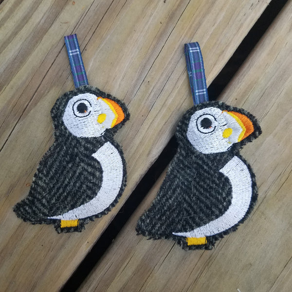 Puffin, Harris Tweed Ornament