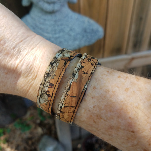 Fennel & Gray Cork Wrap Bracelet - SM