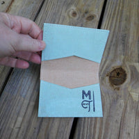 Sea foam Cork  Biz Card Wallet