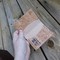 Natural Cork  Biz Card Wallet