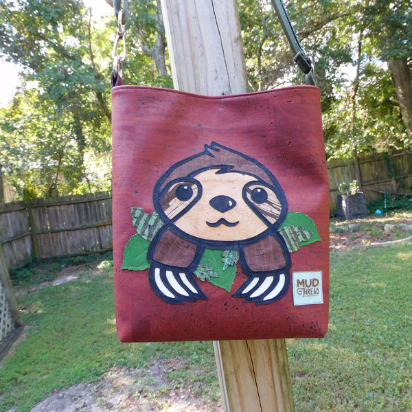 SLOTH Cork Open Top Crossbody