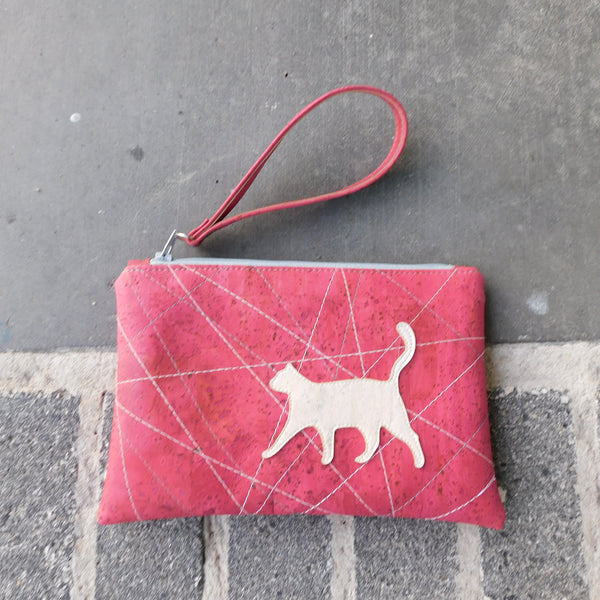 White Cat Cork Clutch