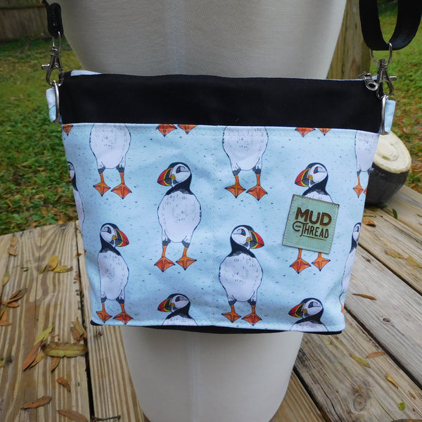 Puffins, small Hillside Tote