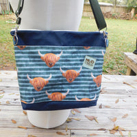 Highland Cow, large Hillside Tote