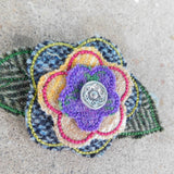 Purple Tweed Brooch